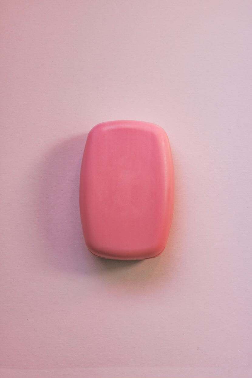 Pink bar of soap